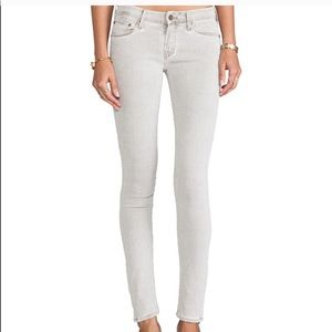 Mother The Looker Pop Gray Skinny Jeans
